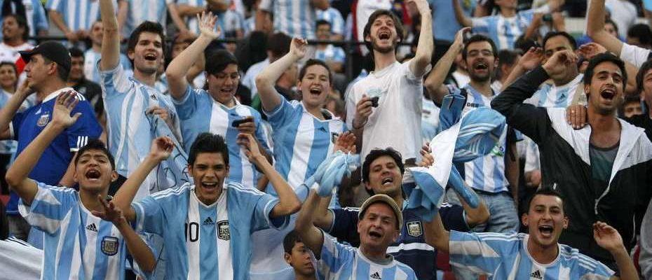 Estamos en el estadio en la previa de Argentina vs Croacia