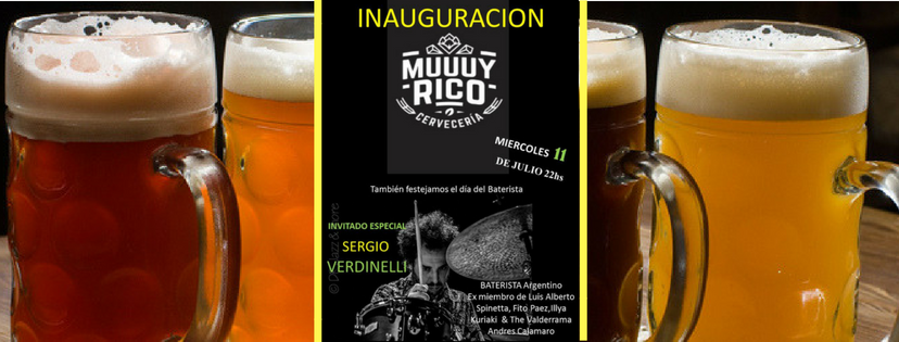 Inauguración de Muuuy Rico Cervecería