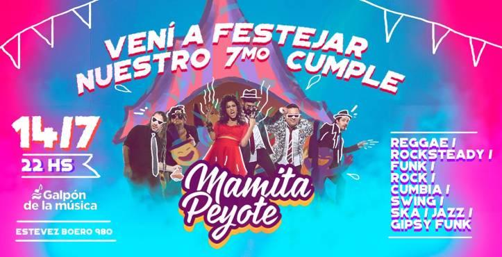 MAMITA PEYOTE se presenta en Rosario